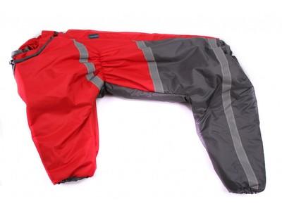 ZooPrestige Комбинезон утепленный, для Стаффорда, красно/серый, спина 55 см