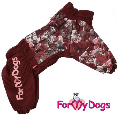 """ForMyDogs Комбинезон для больших собак """"Мишки"""" коричневый, размер С2, модель для девочек (фото)"""