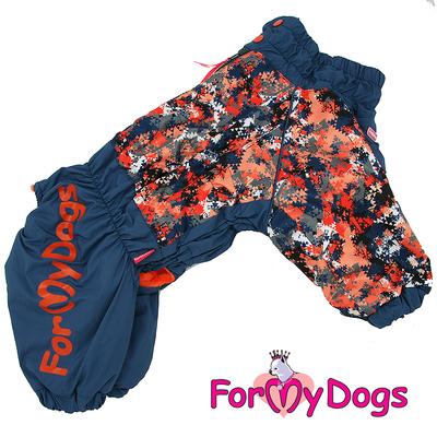 ForMyDogs Комбинезон для крупных собак сине/оранжевый, размер С2, модель для мальчиков (фото)