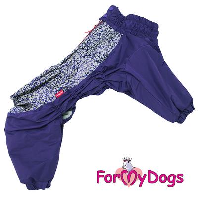 ForMyDogs Комбинезон для крупных собак фиолетовый, размер D1, модель для мальчиков (фото)