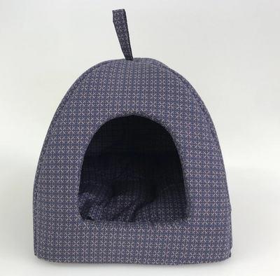 Бобровый дворик Домик лежак для кошек и собак, синий Колизей (фото)