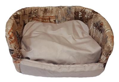 DOGMAN Лежак для собак Софа №1 Элегант бежевый Сафари 40х50х20см (фото)