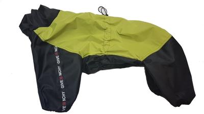 LifeDog Дождевик для больших пород собак, желтый/черный, размер 4XL, спина 55см (фото)