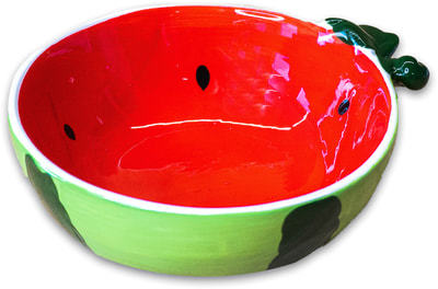 КерамикАрт Миска для собак и кошек керамическая Арбузик, 250мл (фото)