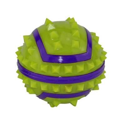DOGMAN Игрушка для собак Мяч с шипами для массажа десен, 7см