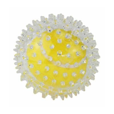DOGMAN Прозрачный мячик с шипами для массажа десен 9см
