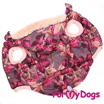 ForMyDogs Куртка для больших собак бордо, размер С2 (фото)