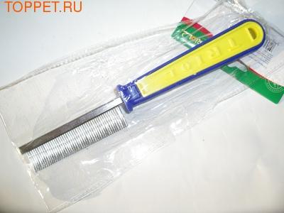 Триол Расческа частая, 19,0х3,0х3,0см, сине-зеленая ручка
