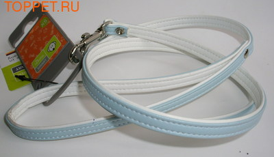 Hunter Поводок для собак Hunter Modern Art 8/110, голубой/белый, кож.зам.