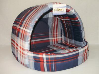 Бобровый дворик Лежак для собак и кошек ЭСТРАДА, шотландка синяя