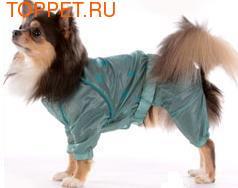ForMyDogs Дождевик для собак из непромокаемой ткани, цвет серо-зеленый, размер 10.