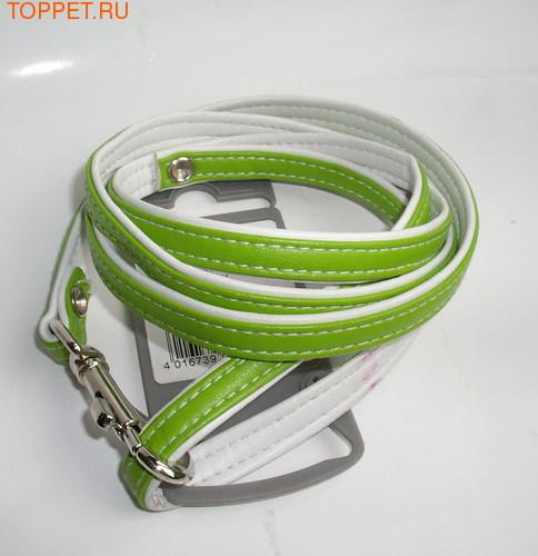 Hunter Поводок для собак Modern Art 8/110 см, зеленый/белый, кож.зам.