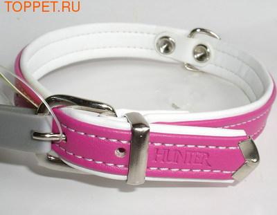 Hunter Ошейник Modern Art 27/11 (20-24 см), розовый/белый