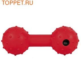 TRIXIE Игрушка для собак Гантель резиновая 12,5см со звуком колокольчика