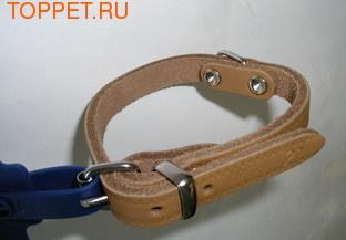 I.P.T.S. Ошейник кожаный цвет натуральный, 27см