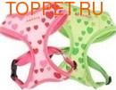 Puppia Шлейка -жилетка для собак зеленая, сердечки, размер L