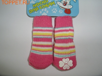 DEZZIE Носки для собак розовые