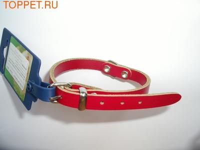 I.P.T.S. Ошейник кожаный цвет красный 42см