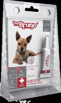 М.Бруно Капли Плюс инсектоакарицидные для собак 2-5кг/0,5мл с 3-х месячного возраста