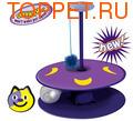 Petstages игрушка для кошек Трек Night Play с мигающим мячиком