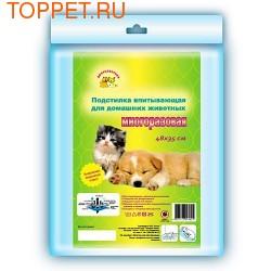 Пелигрин Многоразовая впитывающая подстилка для собак и кошек 48х35см
