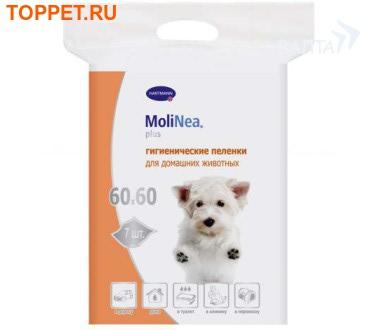 Hartmann Пеленки для собак Molinea Plus 60х60см от 5шт в упаковке