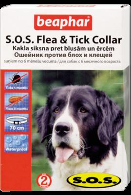 Beaphar S.O.S. ОШЕЙНИК от блох(8мес),клещей(4мес)для собак (SOS) 70см