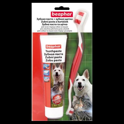 Beaphar PET-A-DENT Toothpaste+ brush зубная паста с щеткой