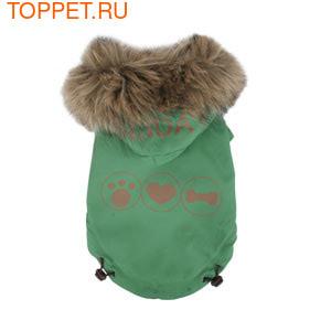 Pinkaholic Двухсторонняя куртка с капюшоном, цвет зеленый, размер М
