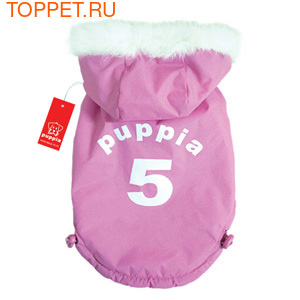 "Puppia Двухсторонний пуховик ""5"", цвет розовый, размер L (фото)"