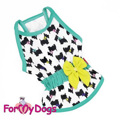 ForMyDogs Майка для собак трикотажная белая, размер 16 (фото)