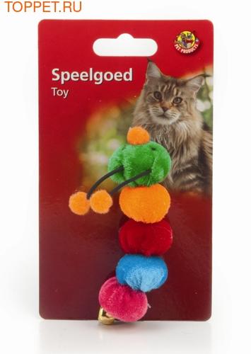 Beeztees Игрушка для кошек Гусеница плюшевая 9,5см (фото)