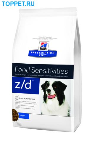 HILL'S Диета для собак Z/D Ultra лечение острых пищевых аллергий сух. (фото)