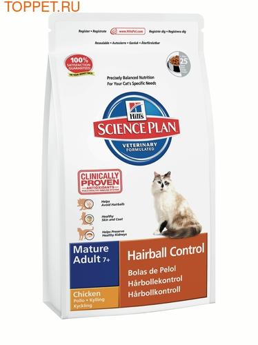 HILL'S Для пожилых кошек, для выведения шерсти, сух.1,5кг