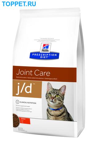 HILL'S Диета для кошек J/D лечение заболеваний суставов сух.2кг (фото)