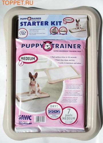 САВИК Туалет для щенков и собак мелких пород с фиксацией пеленки, размер 48*35*4см