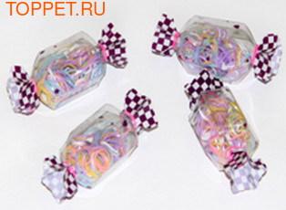 """Kylin Fashion Резинки для волос разноцветные маленькие в упаковке """"конфета"""" в упаковке 100шт. + - 5шт"""