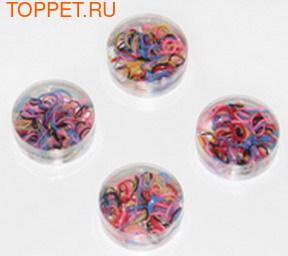Kylin Fashion Резинки для волос разноцветные в баночках в упаковке 200шт. + - 15шт