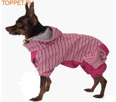 Fluk Дождевик для собак закрытый розовый