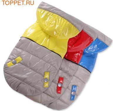 I's Pet Куртка теплая, цвет серый/красный, размер S (фото)