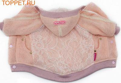 ForMyDogs Куртка трикотажная на теплой подкладке, цвет розовый, размер 12