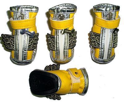 Ботиночки для собак, цвет желтый , размер 2,3