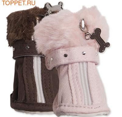I's Pet Ботиночки для собак зимние меховые, цвет розовый, размер №2