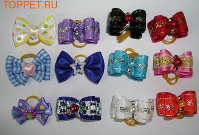 Lukky Набор бантиков на латексной резинке, 12шт. в упаковке (фото)