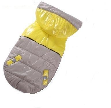 I's Pet Куртка теплая, цвет серый/желтый, размер S