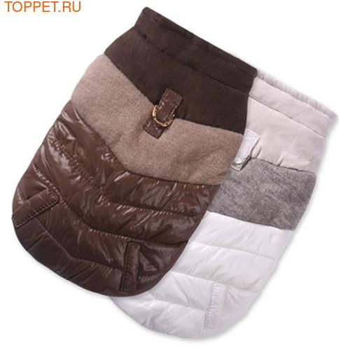 I's Pet Куртка для собак без капюшона, цвет коричневый, размер S