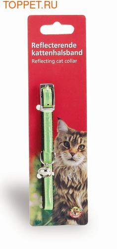 Beeztees Ошейник для кошек светоотражающий нейлоновый желтый 33см (фото)