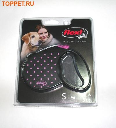 """Flexi Рулетка Color """"dog"""" розовый 5m для собак до 12 и 20кг"""