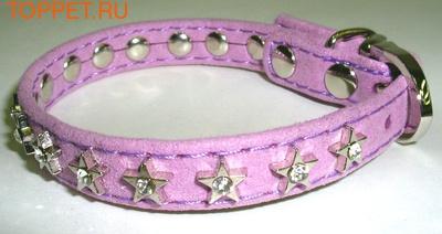 """ForMyDogs Ошейник для собак серия """"STAR"""" фиолетовый, размер 1,0х21см"""