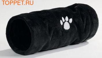 Beeztees Туннель для кошек Crispy плюшевый черный 22х60см